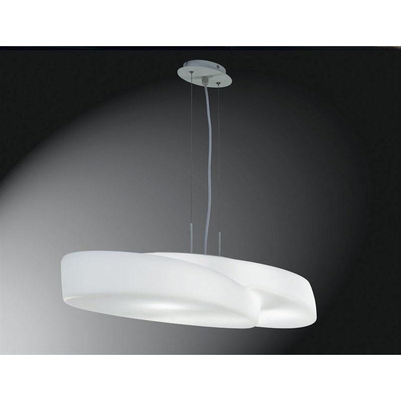 Ufo Pendant 6 Light Indoor White