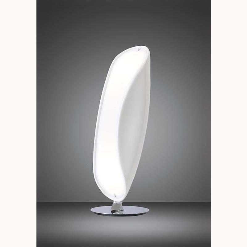 White Epoxy 2 Light Table Lamp - Stunning Clean Glowing Light