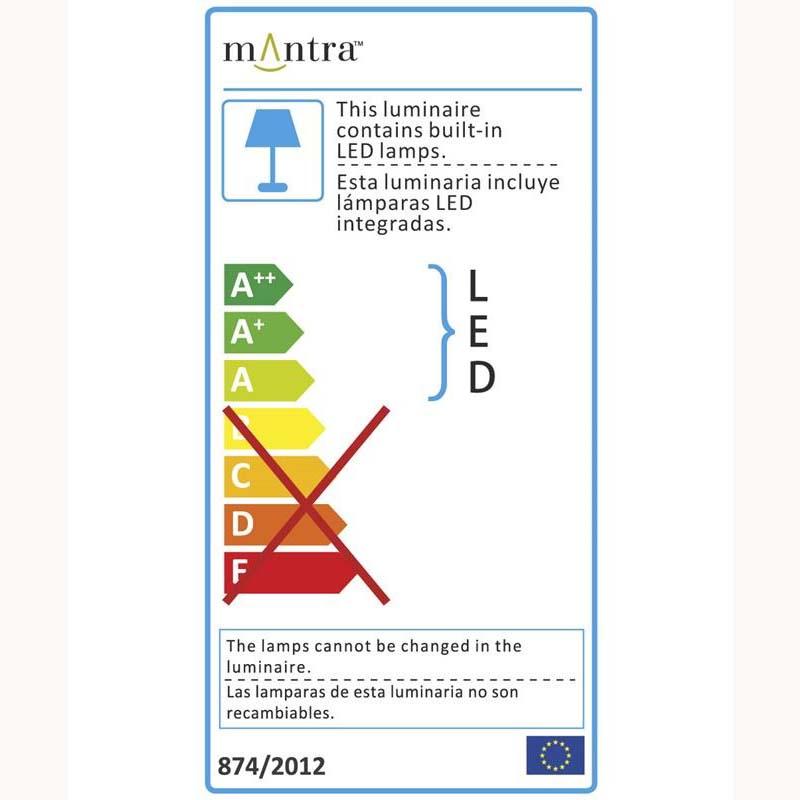 Duna Floor 6 Light Polished Chrome Low Energy