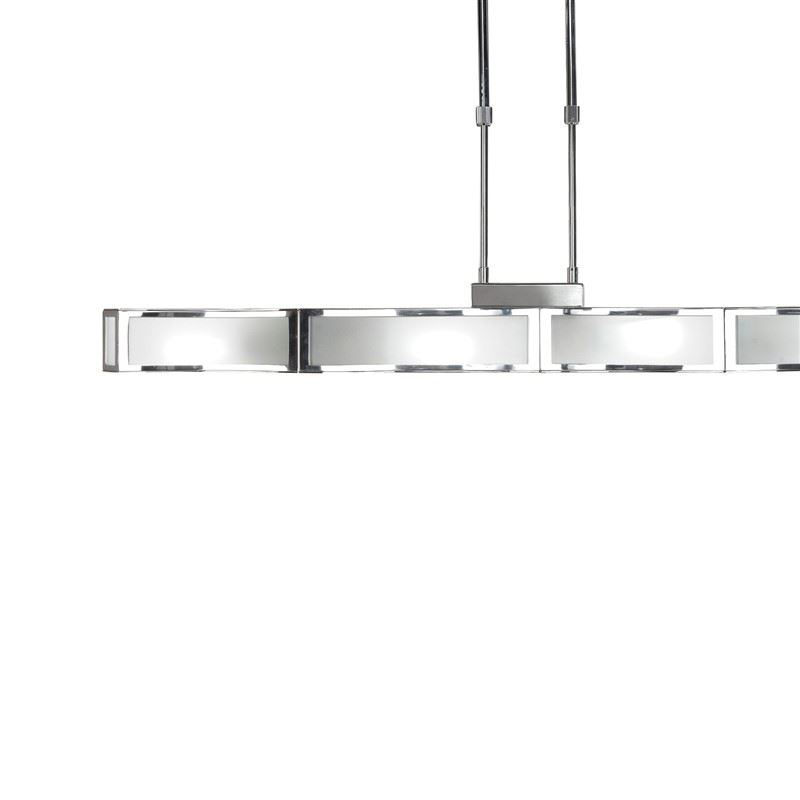 Duna Telescopic Pendant 4 Light Polished Chrome Low Energy