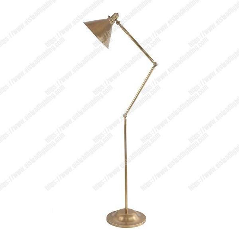 Provence 1 Light Floor Lamp - Aged Brass