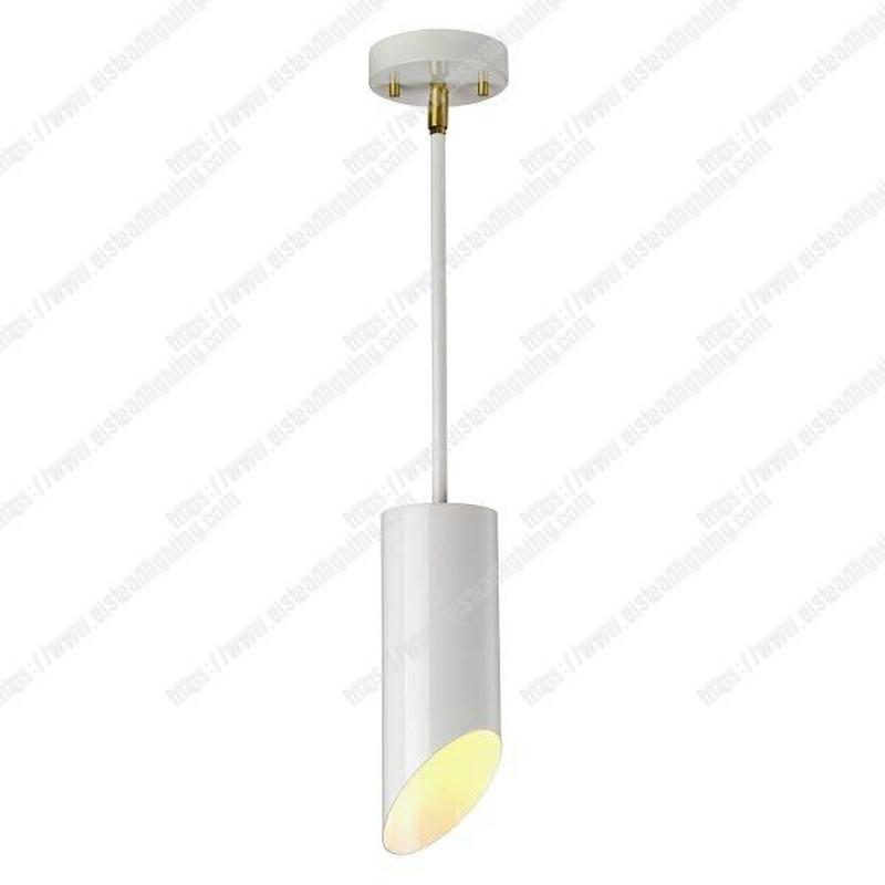 Quinto 1 Light Pendant - White Aged Brass