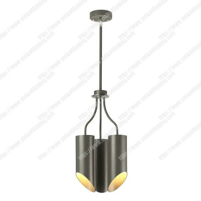 Quinto 1 Light Floor Lamp - Dark Grey Polished Nickel