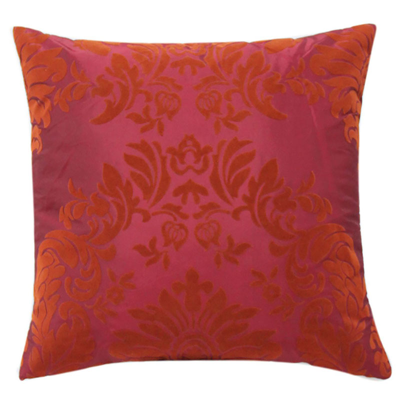 Red Cushion With Red Flock Design Bedding Sofa Home Decor