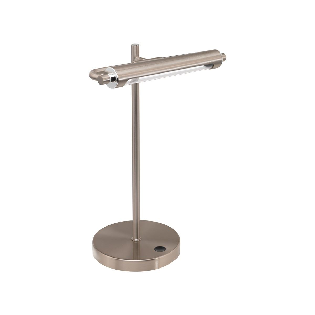 Silver Steel Children LED Table Lamp & Touch Dimmer Light
