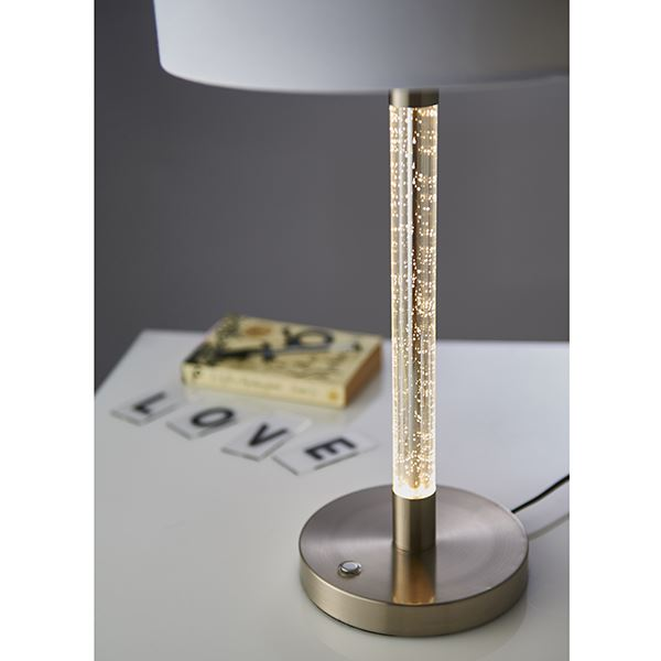 Andromeda Satin Chrome Table Lamp & Clear Acrylic