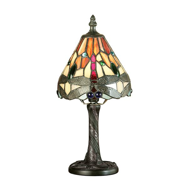 Dragonfly Tiffany Style Flame Mini Table Lamp 40W