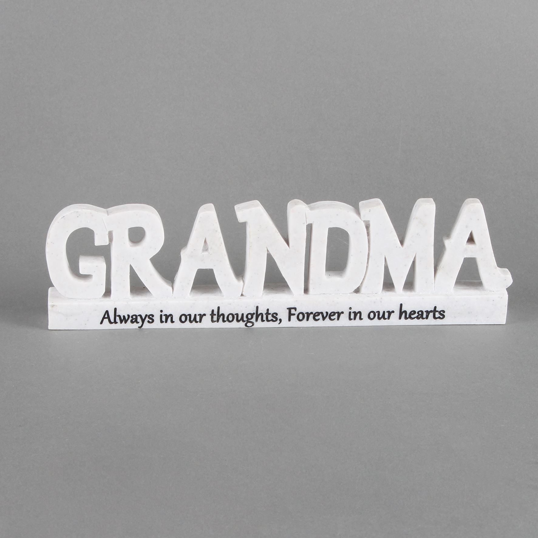 Thoughts of You Memorial 3D Words - Grandma