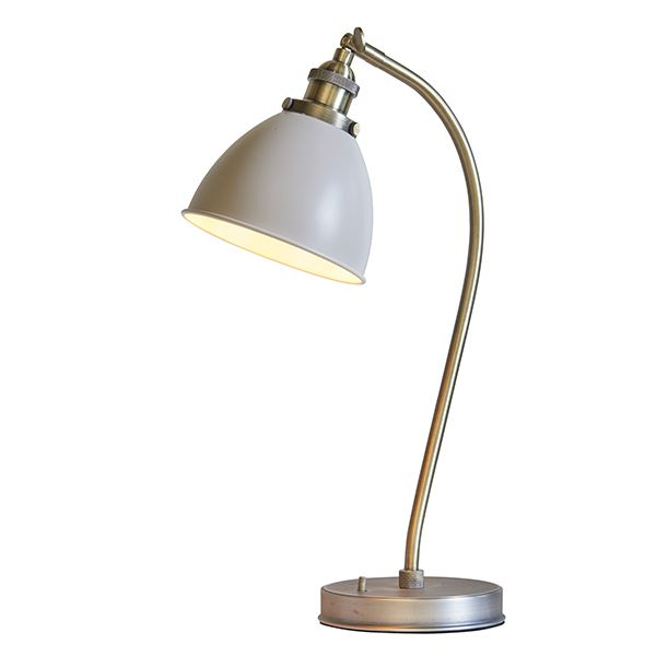 Franklin Task Table Lamp 40W SW Antique Brass Finish & Ivory Shade