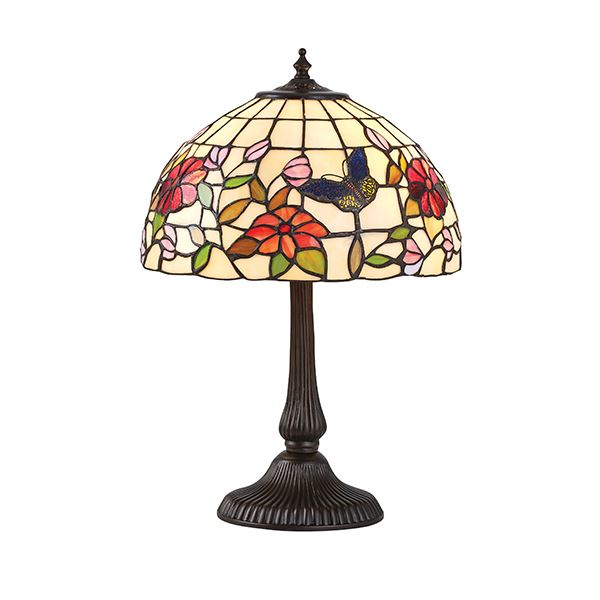 Tiffany Butterfly Design Small Table Lamp Zinc 40W