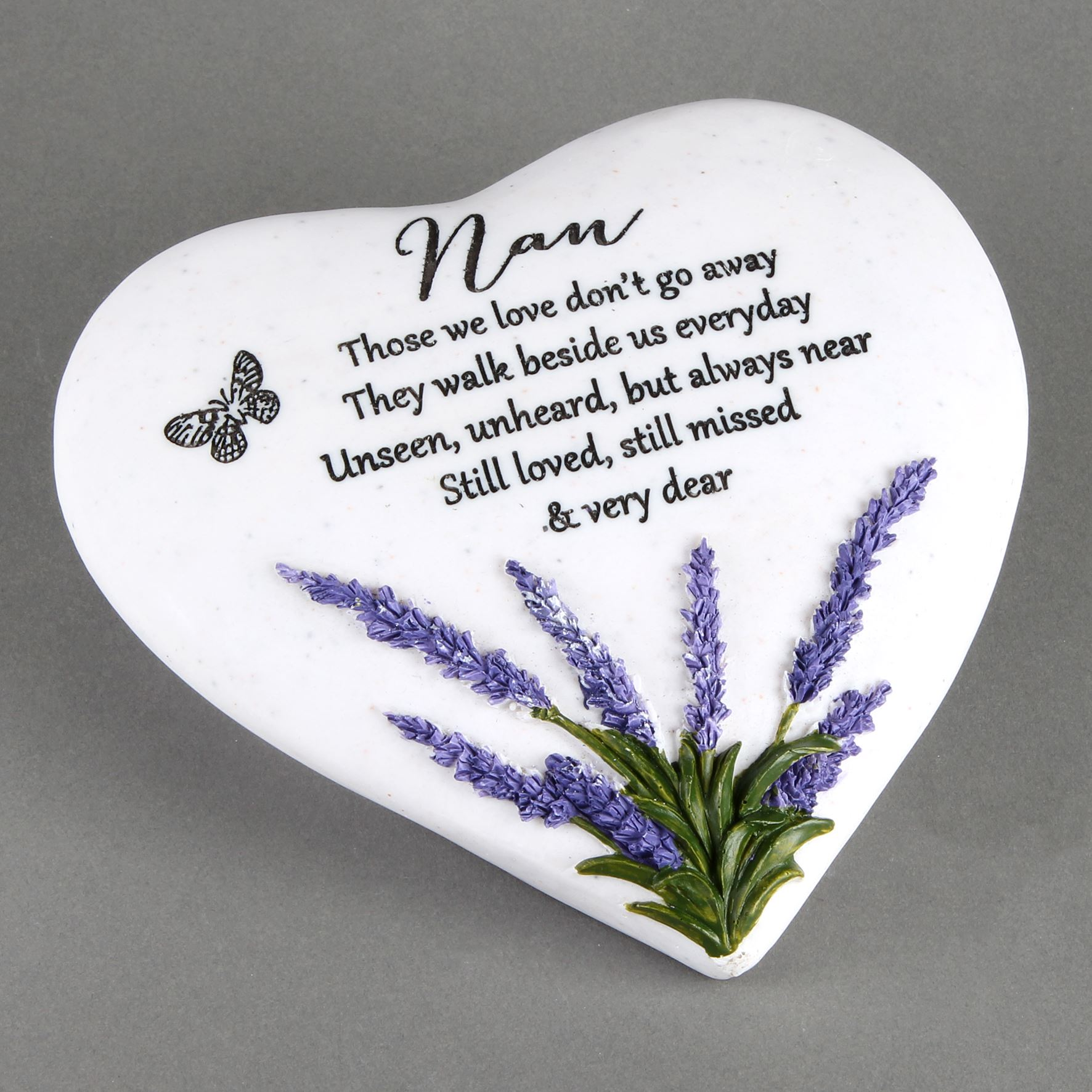 Thoughts of You Heart Stone / Lavender - Nan