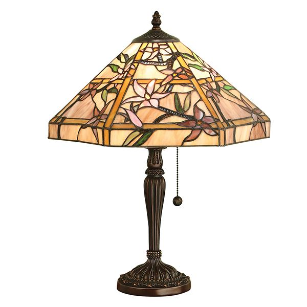 Tiffany Style Floral Design Table Lamp Resin 60W