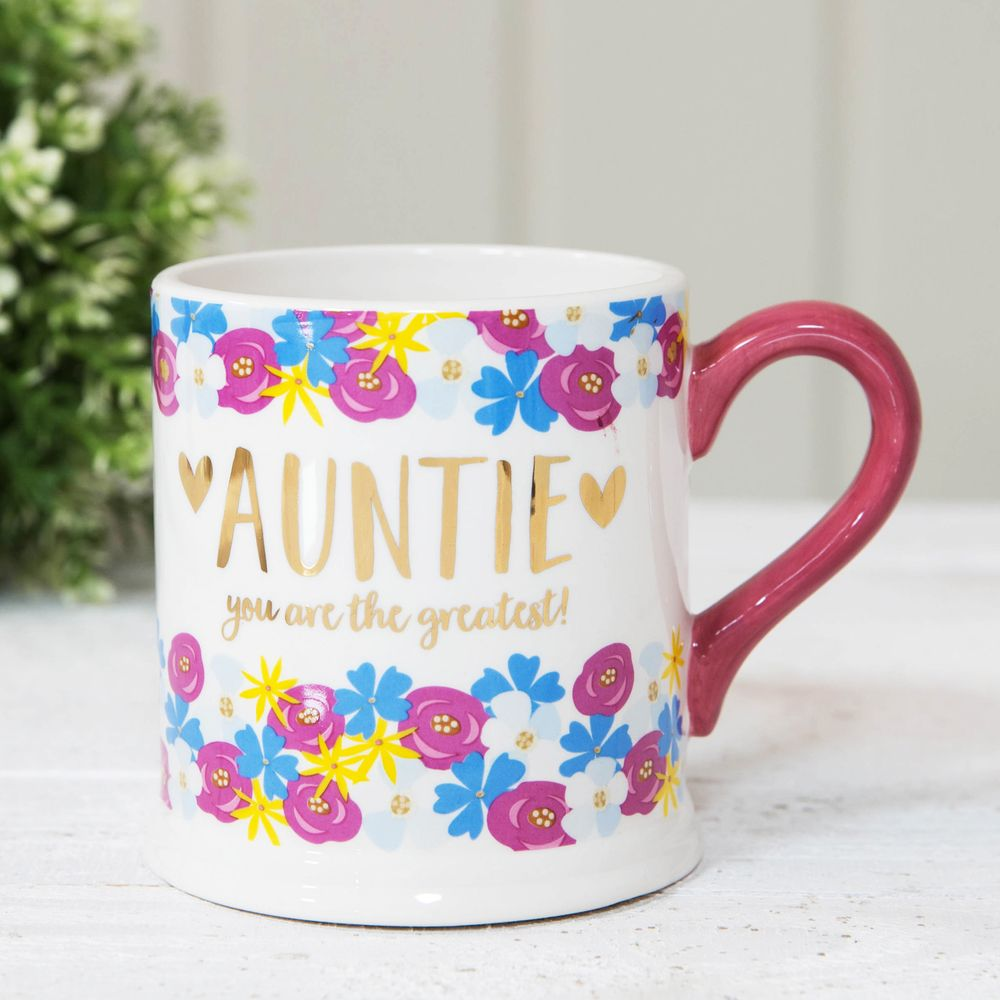 Quicksilver Mug with Foil - Auntie (Set of 3)
